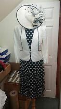 SALE Condici Mother of the Bride White Black Polkadot Size 14 BRAND NEW RRP£695