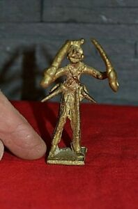 Figurine, petite statuette Africaine en bronze (Années 70-80 - Réf. 19)