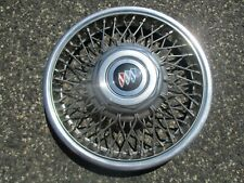 One 1986 to 1990 Buick Century locking wire spoke 14 inch hubcap wheel cover