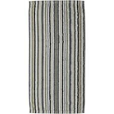 Cawö Classic Terry cloth Lifestyle Sauna towel 70x180 cm, Stripes - Pebble