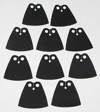LEGO LOT OF 10 NEW BLACK STANDARD CLOTH STAR WARS CAPES JEDI PIECES
