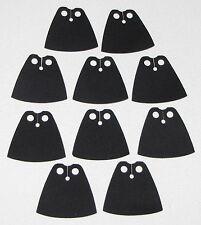 LEGO LOT OF 10 NEW BLACK STANDARD CLOTH STAR WARS CAPES JEDI PIECES