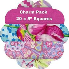"""5"""" Quilters Charm Squares  x 20 - Kaffe Fassett Collective 2016 - Pink #1"""