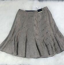 Lane Bryant Skirt Metallic Pleated size 14