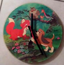"DISNEY* FOX AND THE HOUND-12"" PICTURE DISC CLOCK--GREAT GIFT!*FREE SHIPPING!!-"