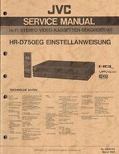 JVC ORIGINALE Service Manual per HR-D 950 E/CE