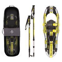 Yukon Charlie's Sherpa Series Snowshoe 8 x 21 Inches, Yellow/ Black   80-5005K