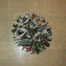 Prework Calla Lily Rose Daisy Flower Petit Point Needlepoint Completed Finished