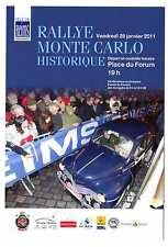 Carte postale Rallye Monté Carlo Historique 2011 départ de Reims Renault 4cv