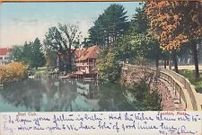 TAUNTON, MA ~ BOAT CLUB, STONE BRIDGE & LAKE ~ c1906 UNDIVIDED BACK