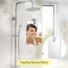 Fogless Anti Fog Glass Shower Shaving Mirror Bathroom Fog-Free + Adhesive Hook
