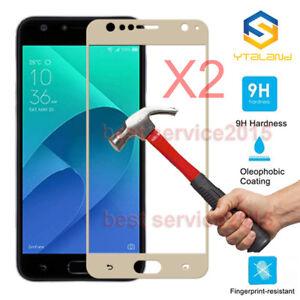 """2pcs 9H+ Full Covered Tempered Glass Film For Asus Zenfone 4 Selfie ZD553KL 5"""""""