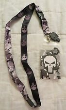 Marvel Punisher Skull Lanyard ID Badge / Ticket Holder New