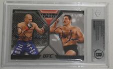 Royce Gracie Dan Severn Signed UFC 2011 Topps Moment of Truth Black Card BAS COA