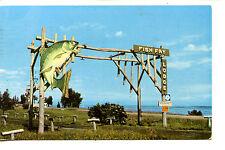 Fish Fry Lodge Entrance Sign-Duluth-Minnesota-Vintage 1955 Advertising Postcard