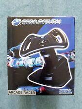 Sega Saturn ARCADE RACER Steering Wheel Boxed Video Game Accessory