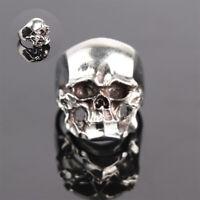 Men's Gothic Punk Head Jewelry Cool Boy Skull Ring Finger Biker