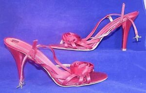 "Nine West Size 10M Jasmina Red Satiny Stilettos 4.25"" Heels BNWOT Shoes"
