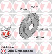 Disco Freno (2 Pezzo) Dischi Freno Sport Cappotto Z - Zimmermann 250.1340.52