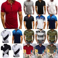 Herren Poloshirt T-Shirts Kurzarm Basic Freizeithemd Sommer Oberteile Tops