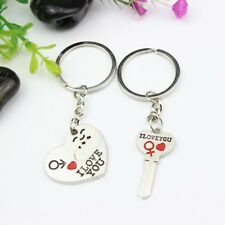 I LOVE YOU Letter Keychain Heart Key Ring Silvery Lovers Love Key Chain