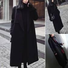 Women Overcoat Peacoat Trench Coat Winter Warm Casual Long Jacket Tops Outerwear