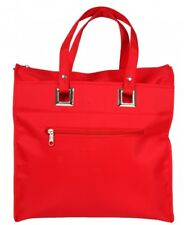 Ladies Large Foldable Tote Handbag Shopper Bag Summer Beach Bag red