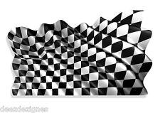 "Waving Checkered FLAG Indy 500 Daytona Racing VINYL DECAL STICKER 6""- 2 Pack 735"