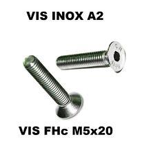 Vis FHC M5x20 INOX A2 - BTR - 6 pans creux tête fraisée (Quantité = 20)