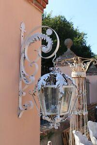 ENORME LAMPIONE LANTERNA LAMPADA IN FERRO BATTUTO '900 - ITALIA XX SECOLO