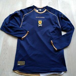Scotland Team Jersey Long Sleeve Home football shirt 2007 - 2008 Mens Size S UA1