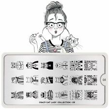 Moyou-London Nail Art Image Stamping Plate Collection Sailor Crazy Cat Lady 05