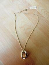 Michael Kors Gold-tone Curb-Link Pendant Necklace MSRP $85