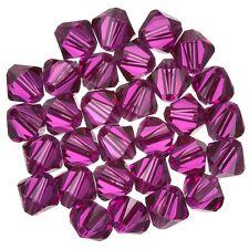 Swarovski Crystal Xilion Bicone (502) Fuchsia 6mm Beads Pack of 30 (E80/1)