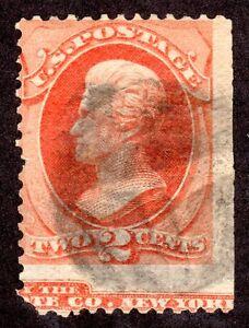 US # 178  (1875) 2c, Used, EFO: part imprint captured @ btm {Scarce}