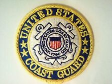 """United States Coast Guard Patch 3"""" Sewn or Iron On   Made in America"""