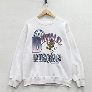 Vintage 1993 Buffalo Bisons Trench Sweatshirt Crewneck Medium 90s MLB Minors