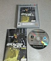 Tom Clancy's Splinter Cell 2002 Platinum  PlayStation 2 PAL PS2 Video Game