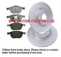 FORD FOCUS MK3 (2011-2016) 1.0 1.6 FRONT 2 BRAKE DISCS & PADS SET NEW