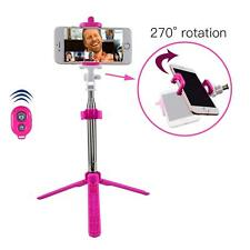 Pink Bluetooth Extendable Selfie Stick Monopod Tripod For iPhone 8 Plus 8 7 6S 5