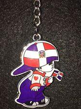 "Dominican Republic Little Boy ""Nene"" Holding Flag Keychain"