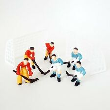 Hockey Team Cake Topper with Goal Nets and 2 Teams DIY Models NHL Face Off
