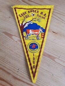 Vintage Camping Club Pennant Flag 1966