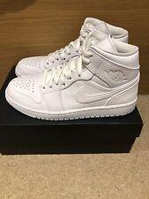 Nike Air Jordan 1 Mid - Triple White - UK8.5 US9.5 EU43 - Brand New In Box