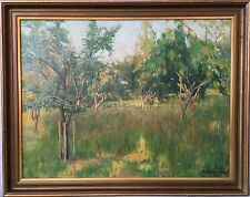 IMPRESSIONIST SVERRE HENNUM (1887-1967) ABENDLICHT IM OBSTGARTEN - NORGE OSLO