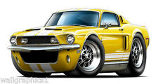 1968 Ford Mustang Shelby GT500 Wall Graphic Vinyl Decal Garage Man Cave Decor