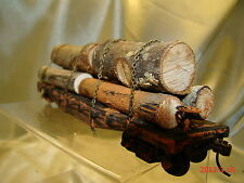 Logging Flat Car - weathered, custom lot 1 from historic picture -very rustic-HO