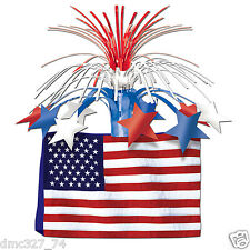 4th of July PATRIOTIC Party Decoration AMERICAN FLAG CENTERPIECE Metallic Spray