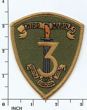 USMC 3rd Marine Regiment subdued OD ! PATCH 3d Regt OIF OEF Third Marines RCT-3