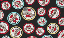 Socky the Sock Monkey I Spy Faces Close Up By the Fat Quarter